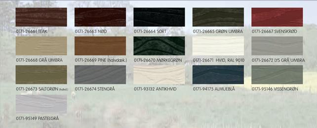 træbeskyttelse farver Arsinol   Esbjerg Paints træbeskyttelse farver